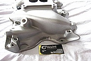 Blue Thunder Ford Cleveland 351 Aluminum V8 Intake Manifold BEFORE Chrome-Like Metal Polishing and Buffing Services
