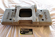 Weiand 350 Chevrolet 1940 Coupe Aluminum V8 Intake Manifold BEFORE Chrome-Like Metal Polishing and Buffing Services