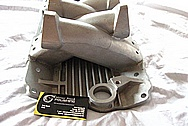 Aluminum Cross Section V8 Intake Manifold BEFORE Chrome-Like Metal Polishing and Buffing Services Plus Custom Painting Services