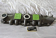 Eddie Meyer Hollywood Aluminum Intake Manifold BEFORE Chrome-Like Metal Polishing and Buffing Services