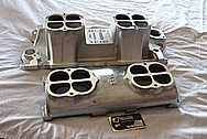 Weiand V8 Aluminum Intake Manifold BEFORE Chrome-Like Metal Polishing and Buffing Services