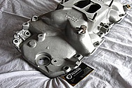 Aluminum GM V8 Intake Manifold BEFORE Chrome-Like Metal Polishing and Buffing Services Plus Painting Services