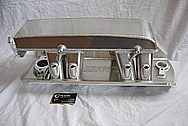 Chevy Camaro Aluminum Hogans Intake Manifold BEFORE Chrome-Like Metal Polishing and Buffing Services
