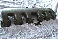 1957 Chevy Truck Engine Cast Iron Intake Manifold BEFORE Chrome-Like Metal Polishing and Buffing Services / Restoration Services