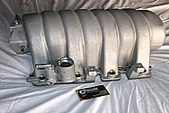 Dodge Hemi / Challenger Aluminum Intake Manifold BEFORE Chrome-Like Metal Polishing and Buffing Services / Restoration Services