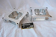 1923 T-Bucket 355 Cu. In. Small Block Chevy Intake Manifold Spacers BEFORE Chrome-Like Metal Polishing and Buffing Services