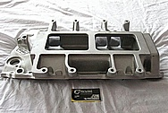Weiand Aluminum Blower Intake Manifold BEFORE Chrome-Like Metal Polishing and Buffing Services / Restoration Services