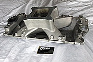 Weiand Team G Aluminum Intake Manifold BEFORE Chrome-Like Metal Polishing and Buffing Services / Restoration Services