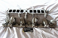 Ford Mustang Edelbrock Upper and Lower Aluminum Intake Manifold BEFORE Chrome-Like Metal Polishing and Buffing Services / Restoration Services