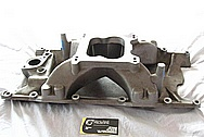 Mopar M-1 Airgap Aluminum Intake Manifold BEFORE Chrome-Like Metal Polishing and Buffing Services / Restoration Services