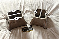 Aluminum Intake Manifold Carb Tops BEFORE Chrome-Like Metal Polishing and Buffing Services / Restoration Services