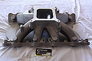 Trick Flow Aluminum V8 Intake Manifold BEFORE Chrome-Like Metal Polishing and Buffing Services / Restoration Services