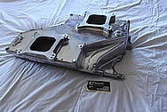 Edelbrock STR12 Aluminum V8 Intake Manifold BEFORE Chrome-Like Metal Polishing and Buffing Services / Restoration Services