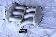 Nissan GTR Aluminum Intake Manifold BEFORE Chrome-Like Metal Polishing and Buffing Services / Restoration Services