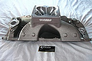 Brodix Big Block Chevy HV-2001 Aluminum Intake Manifold BEFORE Chrome-Like Metal Polishing and Buffing Services / Restoration Services
