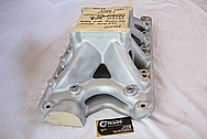 Small Block Ford World Products V8 Aluminum Intake Manifold BEFORE Chrome-Like Metal Polishing and Buffing Services