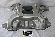 Edelbrock Performer RPM Aluminum Intake Manifold BEFORE Chrome-Like Metal Polishing and Buffing Services / Restoration Services