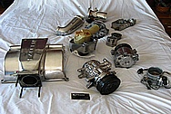 Saleen Mustang Aluminum Intake Manifold BEFORE Chrome-Like Metal Polishing and Buffing Services / Restoration Services
