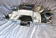 Edelbrock RPM Air Gap Aluminum Intake Manifold BEFORE Chrome-Like Metal Polishing and Buffing Services / Restoration Services
