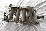 2002 Honda S2000 Aluminum Intake Manifold BEFORE Chrome-Like Metal Polishing and Buffing Services / Restoration Services