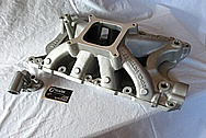 Aluminum V8 Intake Manifold BEFORE Chrome-Like Metal Polishing and Buffing Services / Resoration Services