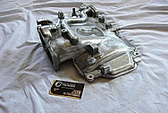 Ford Mustang Cobra Aluminum V8 Intake Manifold BEFORE Chrome-Like Metal Polishing and Buffing Services / Resoration Services