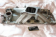 Edelbrock Torker 2-0 Aluminum V8 Intake Manifold BEFORE Chrome-Like Metal Polishing and Buffing Services / Resoration Services