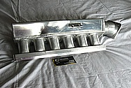 Aluminum Inline 6 Cylinder Intake Manifold BEFORE Chrome-Like Metal Polishing and Buffing Services / Resoration Services