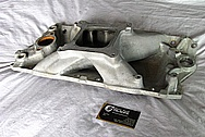 Rough Cast Aluminum V8 Intake Manifold BEFORE Chrome-Like Metal Polishing and Buffing Services / Resoration Services