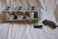 1966 Pontiac GTO Aluminum Intake Manifold BEFORE Chrome-Like Metal Polishing and Buffing Services