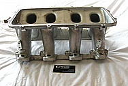 Holley EFI Aluminum Intake Manifold BEFORE Chrome-Like Metal Polishing and Buffing Services / Restoration Services