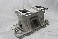 Edelbrock Tunnelram Aluminum Intake Manifold BEFORE Chrome-Like Metal Polishing and Buffing Services / Restoration Services