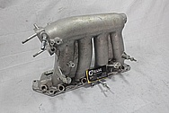 Honda 4 Cylinder RBC Aluminum Intake Manifold BEFORE Chrome-Like Metal Polishing and Buffing Services / Restoration Services