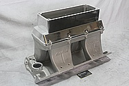 Edelbrock Victor Ram 2-R Aluminum Intake Manifold BEFORE Chrome-Like Metal Polishing and Buffing Services / Restoration Services
