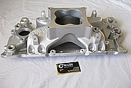 Aluminum V8 Holley Intake Manifold BEFORE Chrome-Like Metal Polishing and Buffing Services