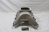 GM Aluminum Intake Manifold BEFORE Chrome-Like Metal Polishing and Buffing Services / Restoration Services