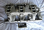 1966 Pontiac GTO Aluminum Tri Power Intake Manifold BEFORE Chrome-Like Metal Polishing and Buffing Services / Restoration Services