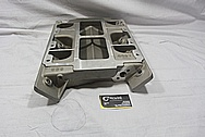 Weiand Aluminum Intake Manifold BEFORE Chrome-Like Metal Polishing and Buffing Services / Restoration Services