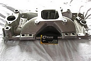 Edelbrock Victor Aluminum Intake Manifold BEFORE Chrome-Like Metal Polishing and Buffing Services / Restoration Services