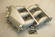 2010 Nissan Skyline GTR Aluminum Intake Manifold BEFORE Chrome-Like Metal Polishing and Buffing Services
