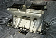 Offenhauser Turbo Thrust Power Aluminum Tunel Ram Intake Manifold BEFORE Chrome-Like Metal Polishing and Buffing Services / Restoration Services