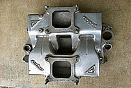 Weiand V8 Cross Ram Aluminum Intake Manifold BEFORE Chrome-Like Metal Polishing and Buffing Services
