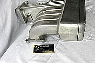 Ford Mustang Aluminum V8 Intake Manifold BEFORE Chrome-Like Metal Polishing and Buffing Services