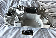 Edelbrock Aluminum V8 Engine Intake Manifold BEFORE Chrome-Like Metal Polishing and Buffing Services
