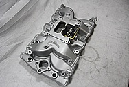 Edelbrock Aluminum V8 Intake Manifold BEFORE Chrome-Like Metal Polishing and Buffing Services / Restoration Services