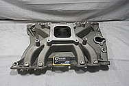Rough Cast Aluminum V8 Intake Manifold BEFORE Chrome-Like Metal Polishing and Buffing Services / Restoration Services