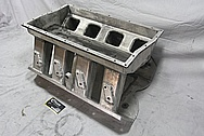 Rough Cast Aluminum V8 815 Cubic Inch Ford Sheet Metal Intake Manifold BEFORE Chrome-Like Metal Polishing and Buffing Services / Restoration Services