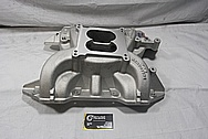 Edelbrock Performer RPM Aluminum V8 Intake Manifold BEFORE Chrome-Like Metal Polishing and Buffing Services / Restoration Services