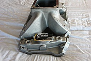 Brodix Aluminum Intake Manifold BEFORE Chrome-Like Metal Polishing and Buffing Services / Restoration Services
