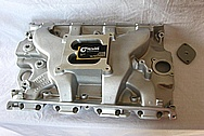 V8 Engine Aluminum Intake Manifold BEFORE Chrome-Like Metal Polishing and Buffing Services / Restoration Services